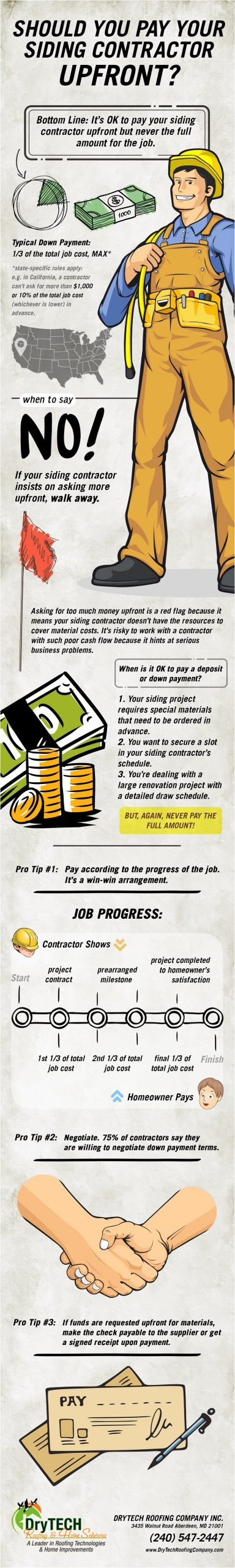 Infographics - Should You Pay Your Siding Contractor Upfront